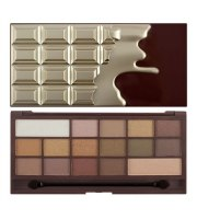 Makeup Revolution, Chocolate Golden Bar, Paleta cieni do powiek, 22 g