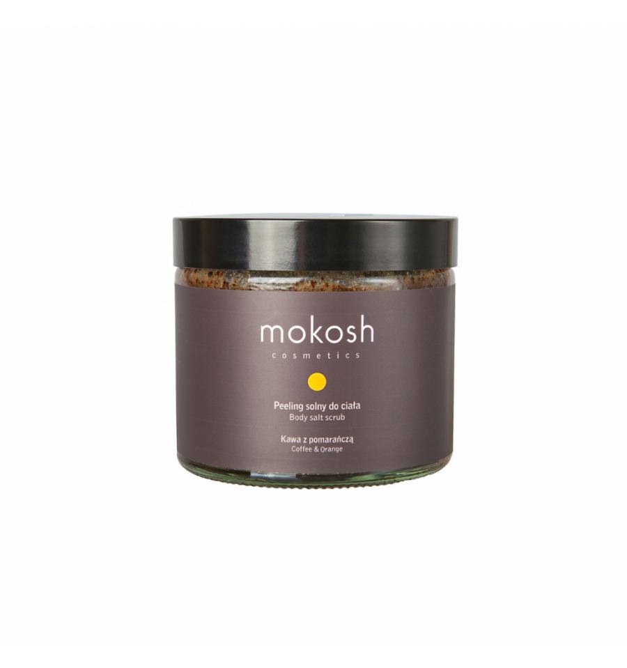 Mokosh, Peeling solny do ciała kawa z pomarańczą, 250 ml