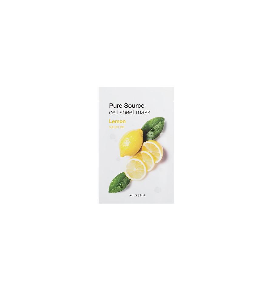 Missha, Pure Source Sheet Mask Lemon, 21 g