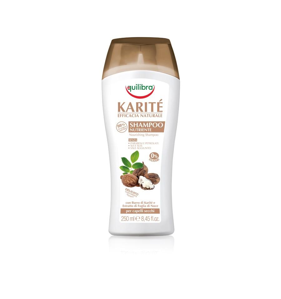 Equilibra, KARITE, Szampon intensywnie odżywiający z masłem Shea, 250 ml