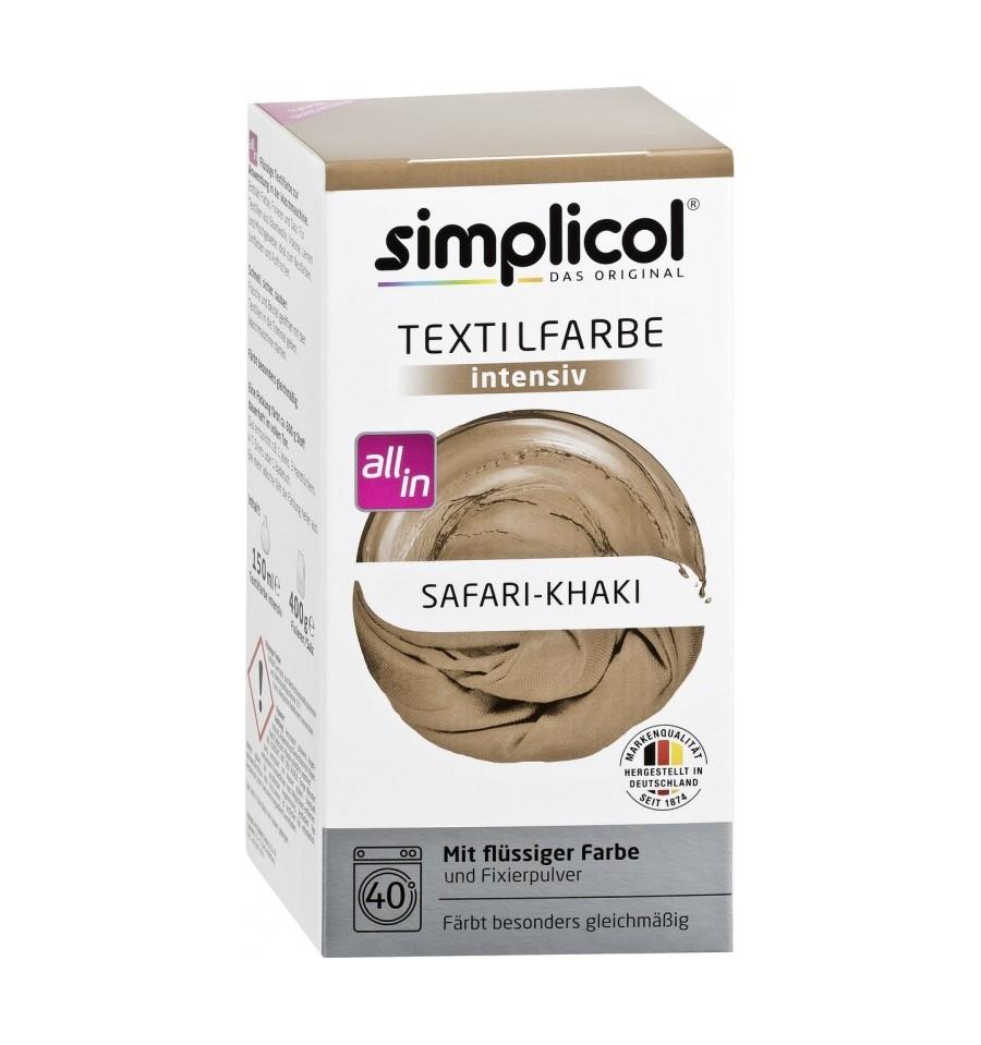 Simplicol, Trwała farba do tkanin, safari/taupe, 750 g
