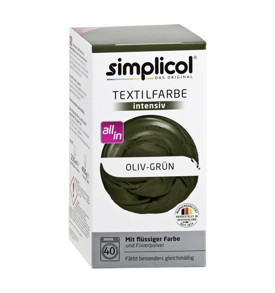 Simplicol, Trwała farba do tkanin, ciemnooliwkowy, 750 g