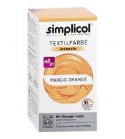 Simplicol, Trwała farba do tkanin, mango - pomarańcza, 560 g