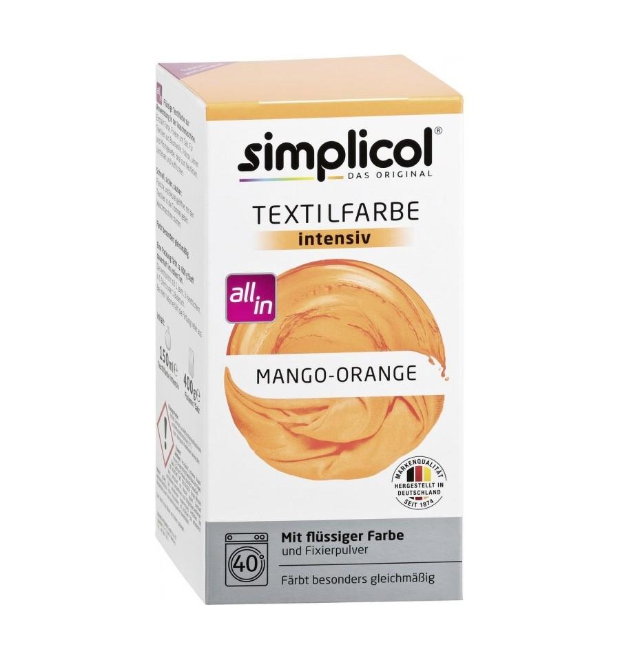 Simplicol, Trwała farba do tkanin, pomarańczowo-miodowy, 750 g