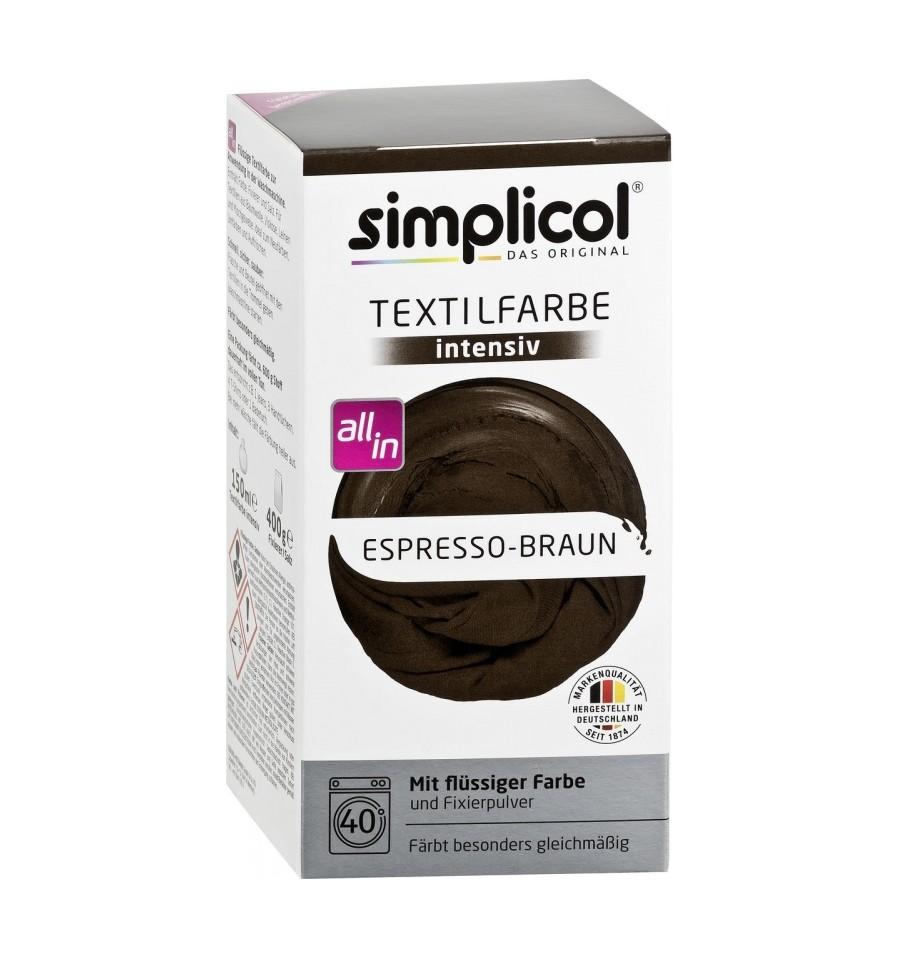 Simplicol, Trwała farba do tkanin, ciemnobrązowy, 750 g