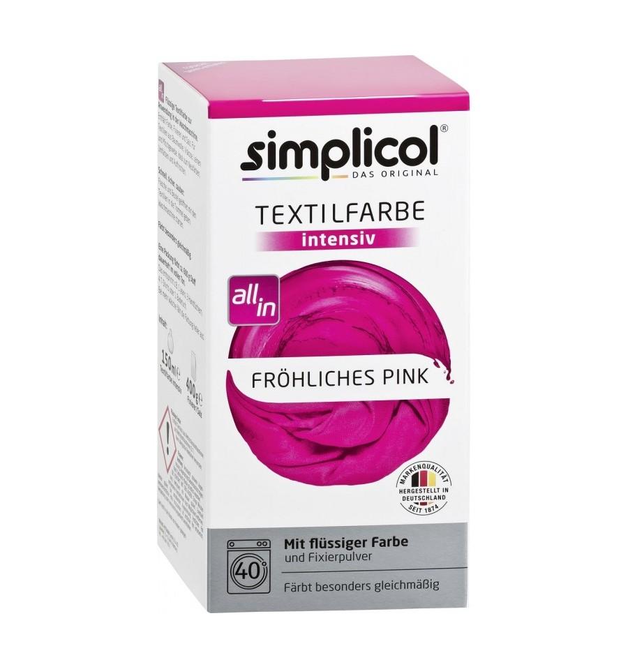 Simplicol, Trwała farba do tkanin, różowa, 750 g
