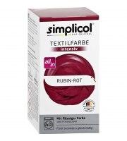 Simplicol, Trwała farba do tkanin, rubin czerwony, 560 g