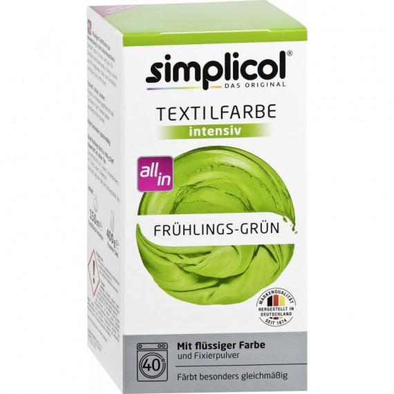 Simplicol, Trwała farba do tkanin, wiosenna zieleń, 560 g