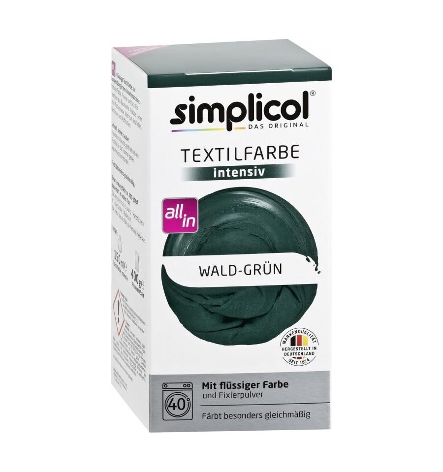 Simplicol, Trwała farba do tkanin, leśna zieleń, 560 g