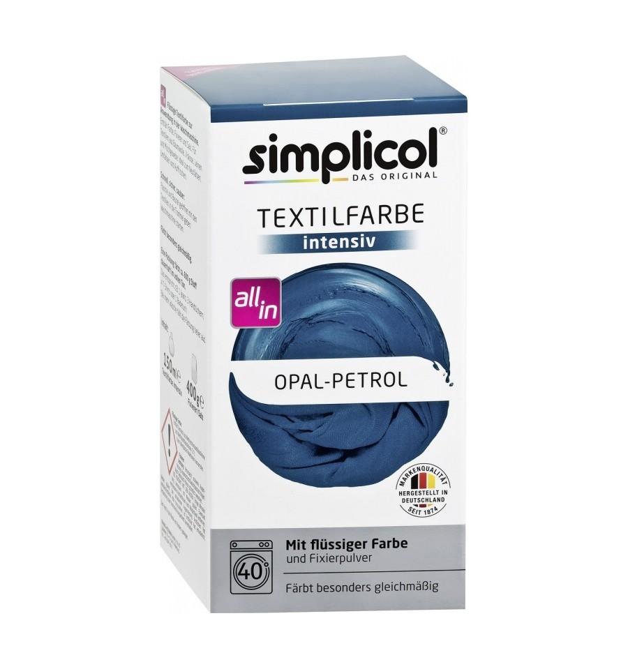 Simplicol, INTENSYWNY barwnik do tkanin, opal - petrol, 560 g