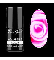 NeoNail, Lakier hybrydowy, Kolekcja AQUARELLE 5507-1 Raspberry Aquarelle, 6 ml