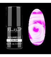 NeoNail, Lakier hybrydowy, Kolekcja AQUARELLE 5506-1 Fuchsia Aquarelle, 6 ml