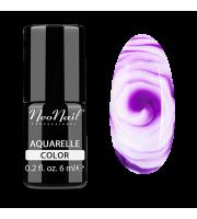 NeoNail, Lakier hybrydowy, Kolekcja AQUARELLE 5509-1 Purple Aquarelle, 6 ml