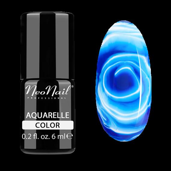 NeoNail, Lakier hybrydowy, Kolekcja AQUARELLE 5511-1 Navy Aquarelle, 6 ml
