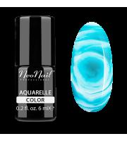 NeoNail, Lakier hybrydowy, Kolekcja AQUARELLE 5513-1 Emerald Aquarelle, 6 ml