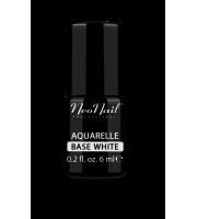 NeoNail, Lakier hybrydowy, Aquarelle Base White, 5485-1 6 ml