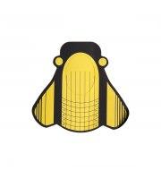 NeoNail, Szablony do przedłużania paznokci szerokie motyl złote 3431, 100 szt.