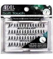 Ardell, Kępki rzęs Soft Touch Knot Free Medium Black, 56 sztuk