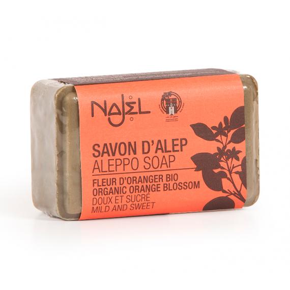 Najel, Mydło Aleppo 12% kwiat pomarańczy, 100 g