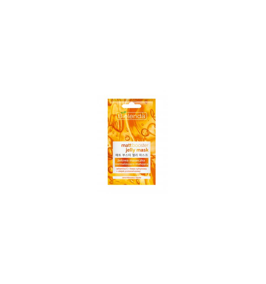Bielenda, MATT BOOSTER, Żelowa maseczka normalizująco – matująca do cery mieszanej i tłustej, 8 g