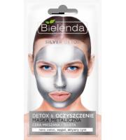 Bielenda, SILVER DETOX Detoksykująca maska metaliczna do cery mieszanej i tłustej, 8 g
