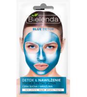 Bielenda, BLUE DETOX, Detoksykująca maska metaliczna do cery suchej i wrażliwej, 8 g