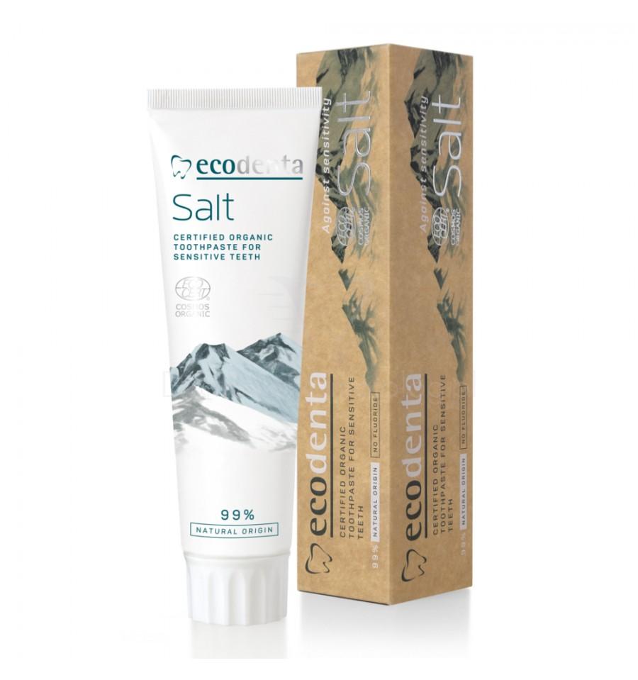 Ecodenta, Cosmos Organic, Pasta do zębów wrażliwych z solą i cytrynianem potasu, 100 ml