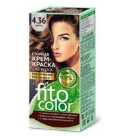 Fitokosmetik, Fito Color - Trwała FARBA do włosów w kremie 4.36 MOKKA