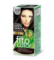 Fitokosmetik, Fito Color - Trwała FARBA do włosów w kremie 3.0 CIEMNY KASZTAN