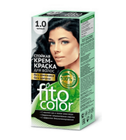 Fitokosmetik, Fito Color - Trwała FARBA do włosów w kremie 1.0 CZARNY