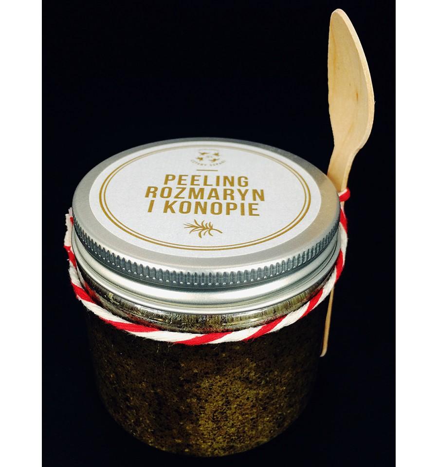 Mydlarnia Cztery Szpaki, Peeling do ciała Rozmaryn i Konopie, 200 ml