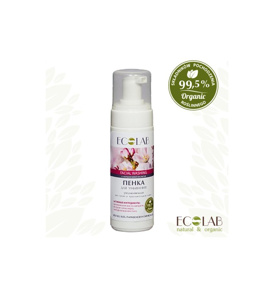 ECOLAB, Pianka do twarzy, nawilżająca – dla suchej i wrażliwej skóry, 150 ml