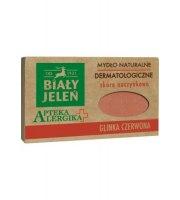 Biały Jeleń, Apteka Alergika, Mydło dermatologiczne, Czerwona glinka, 125g
