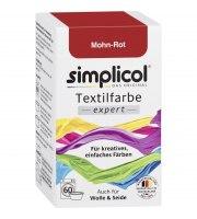 Simplicol, EXPERT barwnik do tkanin, CZERWONY MAK, 150 g