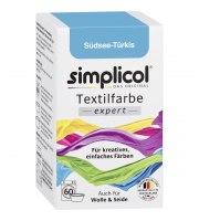 Simplicol, EXPERT barwnik do tkanin, TURKUS MÓRZ POŁUDNIOWYCH, 150 g
