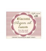 Nacomi, Krem na noc arganowy z kwasem hialuronowym 30+, 50 ml
