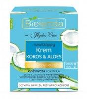 Bielenda, Hydra Care nawilżający krem do twarzy kokos & aloes, 50ml