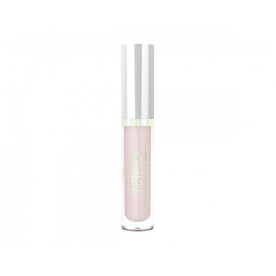 Golden Rose, Metaliczny rozświetlacz w płynie pearly pink 01