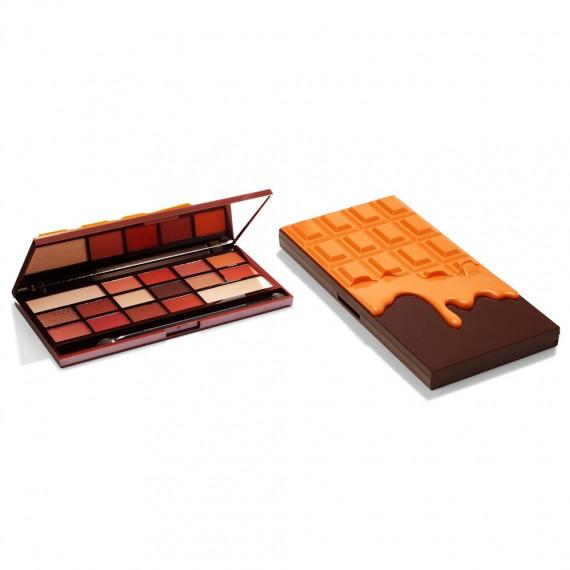 Makeup Revolution, Chocolate Orange, Paleta cieni, 22g