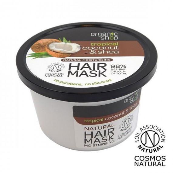 Organic Shop, Nawilżająca maska do włosów COCONUT&SHEA, 250 ml