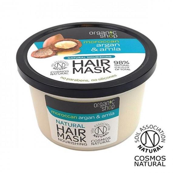 Organic Shop, Odżywcza maska do włosów ARGAN&AMLA, 250 ml