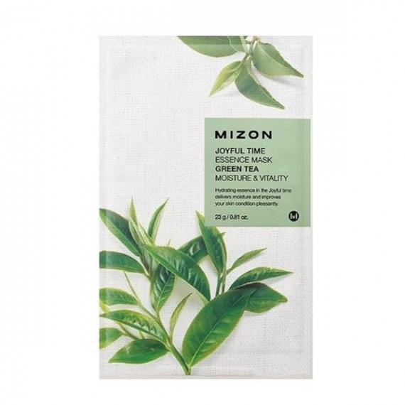 Mizon, Joyful Time GREEN TEA, nawilżająca maska do twarzy, 23 g