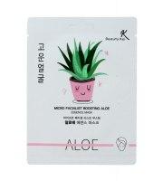 Beauty Kei, Micro Facialist Boosting Aloe Essence Mask, Kojąco-nawilżająca ALOESOWA maska do twarzy, 23 g