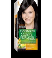 Garnier, Color Naturals Crème, Trwała farba do włosów, 1 CZARNY, 100 + 10 ml