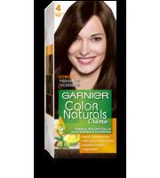 Garnier, Color Naturals Crème, Trwała farba do włosów, 4 BRĄZ, 100 + 10 ml