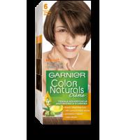 Garnier, Color Naturals Crème, Trwała farba do włosów, 6 CIEMNY BLOND, 100 + 10 ml