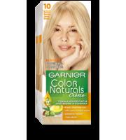 Garnier, Color Naturals Crème, Trwała farba do włosów, 10 BARDZO BARDZO JASNY BLOND, 100 + 10 ml