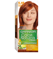Garnier, Color Naturals Crème, Trwała farba do włosów, 6.46 MIEDZIANA CZERWIEŃ, 100 + 10 ml