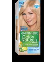 Garnier, Color Naturals Crème, Trwała farba do włosów, 102 LODOWY OPALIZUJĄCY BLOND, 100 + 10 ml