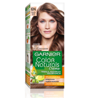 Garnier, Color Naturals Crème, Trwała farba do włosów, 6N NATURALNY CIEMNY BLOND, 100 + 10 ml